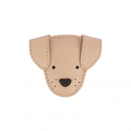 Donsje Josy Hairclip | Dog Light Rust Leather