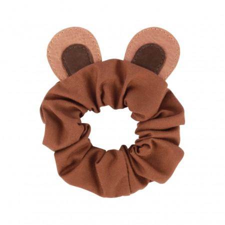 Donsje Polly Hair Scrunchie | Bear Cognac Classic Leather (Novelties)