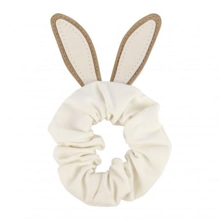 Donsje Polly Hair Scrunchie | Bunny Taupe Nubuck