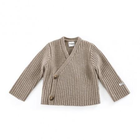 Donsje Elo Cardigan Beige Melange (Sweaters)