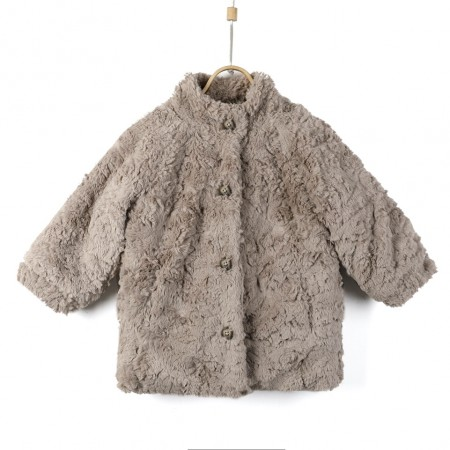 Donsje Mila Jacket Taupe Teddy (Outdoor Clothing)