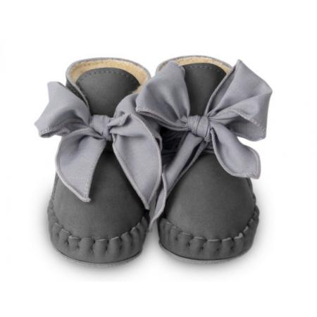 Donsje Pina Organza Lining Grey Nubuck + Hippo Grey Cotton (Footwear)