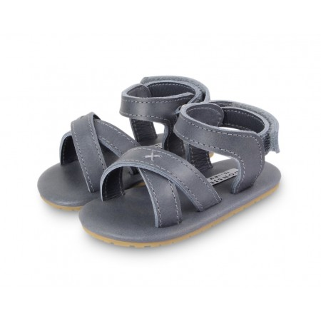 Donsje Giggles Grey Classic Leather 12-18m (Footwear)