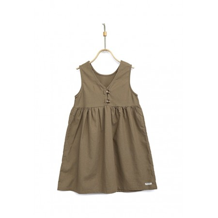 Donsje Lisa Dress Olive Grey 5-6y (Dresses)
