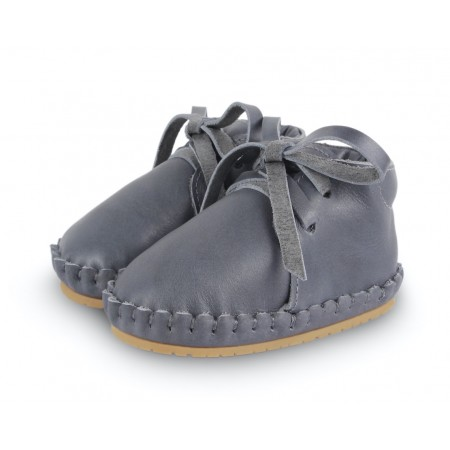 Donsje Poekie Grey Classic Leather 12-18m (Footwear)
