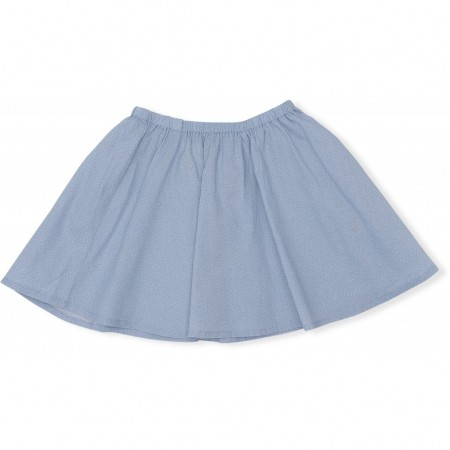 Konges Sløjd Emily Skirt Mini Dots, Dusty Blue (Skirts)