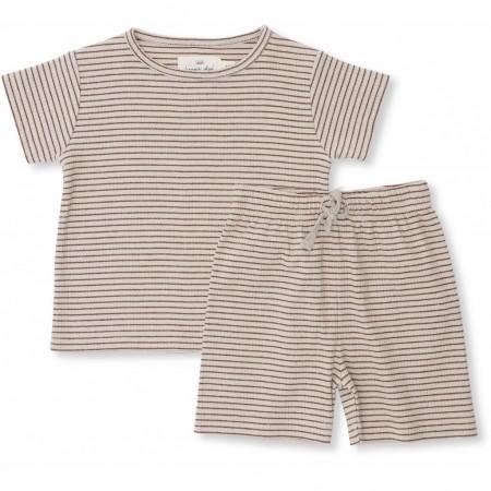 Konges Sløjd Kaya Set Caramel Stripes 24-36 M (Shorts)