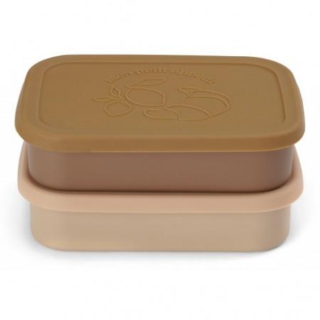 Konges Slojd 2 Pack Food Boxes Lid Square Rose (Novelties)
