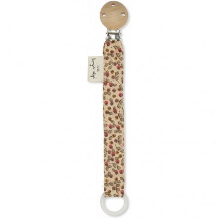 Konges Slojd Pacifier Strap Cotton Rosarie-Red (Novelties)
