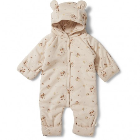 Konges Sløjd New Born Onesie With Hood Deux Nostalgie Blush (Outdoor Clothing)
