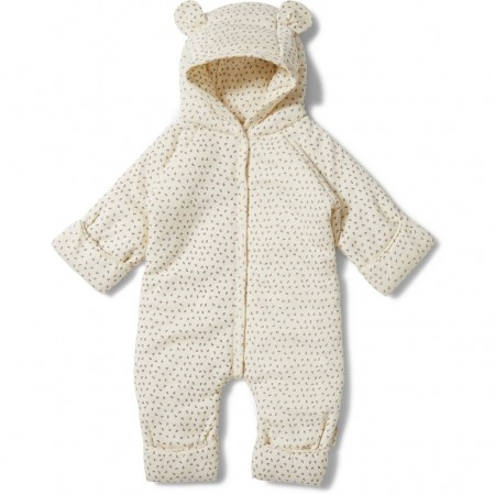 Konges Sløjd New Born Onesie With Hood Deux Tiny Clover Beige (Outdoor Clothing)