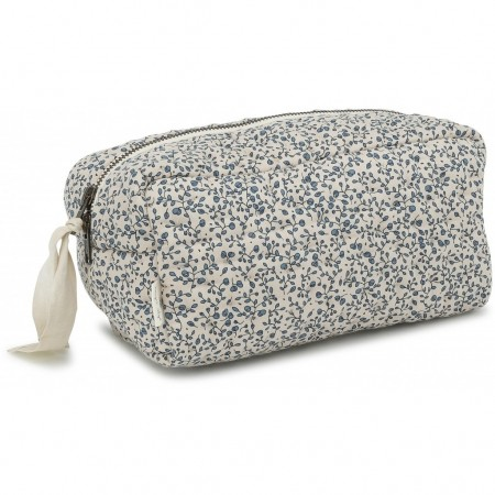 Konges Sløjd Quilted Toiletry Bag Blue Bloosom Mist (Chanching mat)