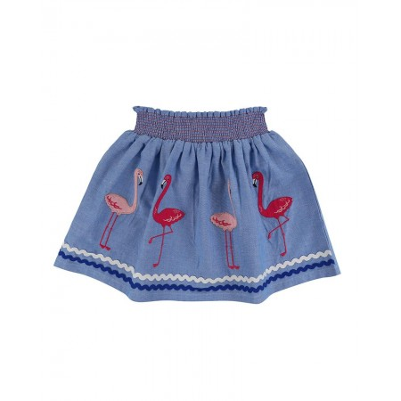 Lilly + Sid Applique Hem Skirt- Flamingo 2-3 Years (Skirts)