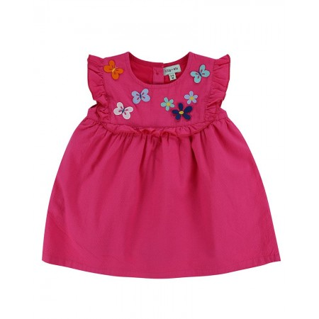 Lilly + Sid Butterfly Yoke Dress 12-18 Months (Dresses)
