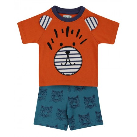 Lilly + Sid Cheetah Short Set 12-18 Months (Shirts)