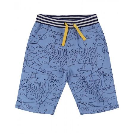 Lilly + Sid Printed Board Shorts- Fish Mash 3-4 Years (Shorts)