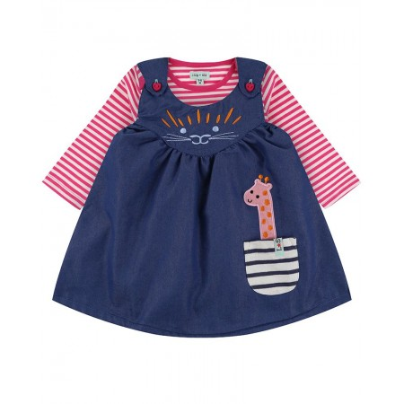 Lilly + Sid Safari Reverse Dress And Stripe Top Set 12-18 Months