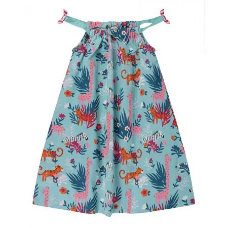 Lilly + Sid Strappy Dress- Safari Print 2-3 Years (Dresses)