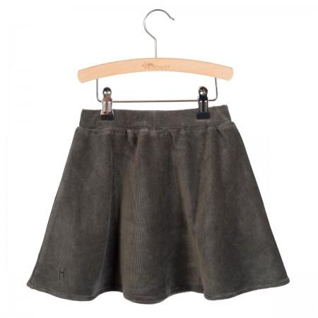 Little Hedonist Pleated Skirt Mesa Pirate Black Rib (Skirts)