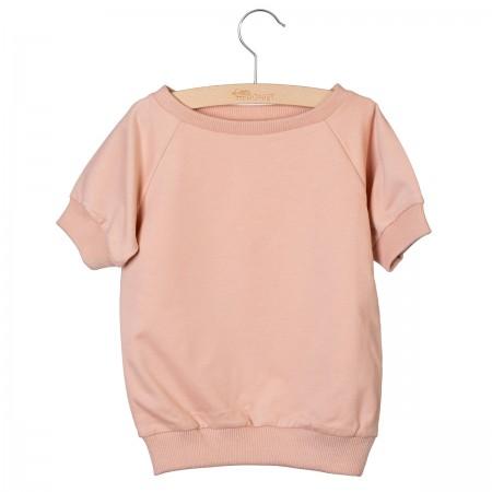 Little Hedonist Short Sleeved Sweater Ciska Cameo Rose (Novelties)