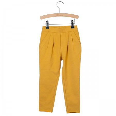 Little Hedonist Pleated Trousers Kobus Amber Gold (Novelties)