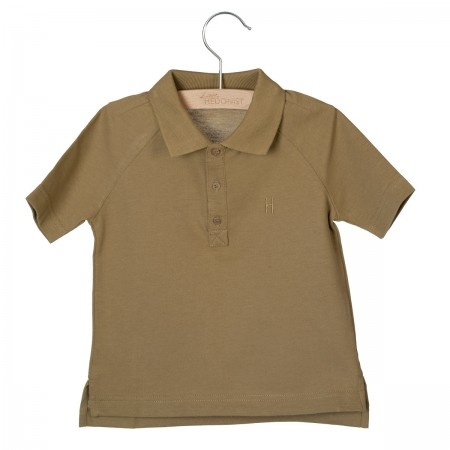 Little Hedonist Short Sleeve Polo Max Antique Bronze (Novelties)