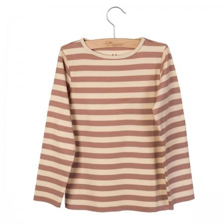 Little Hedonist Longsleeve Elana Burlwood-Bleached Sand striped 134-140 (Shirts)