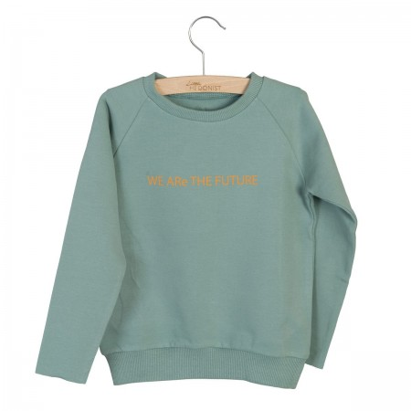 Little Hedonist Sweater Caecilia Print Chinois Green 110-116 (Sweaters)
