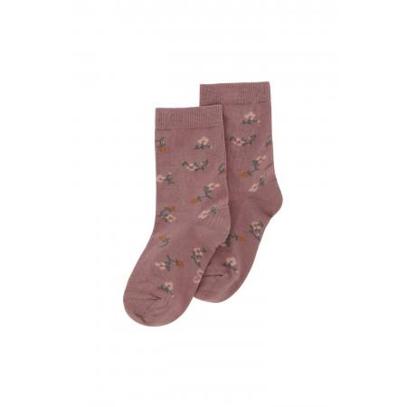 Soft Gallery Junior Girl Socks Woodrose, AOP Flowerberry (Novelties)