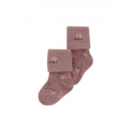 Soft Gallery Baby Girl Socks Woodrose, AOP Flowerberry (Novelties)
