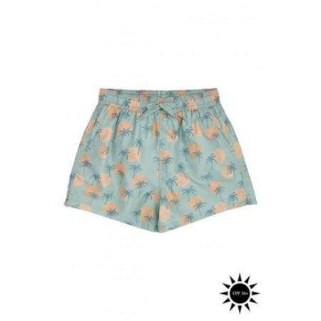 Soft Gallery Dandy Swim Pants Granite Green, AOP Tropical (Novelties)