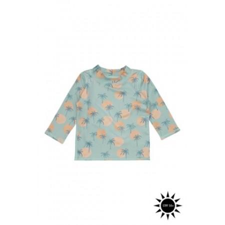 Soft Gallery Baby Astin Sun Shirt Granite Green, AOP Tropical