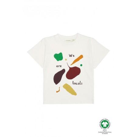 Soft Gallery Asger T-shirt, Gardenia, Vegtables 6Y (Shirts)
