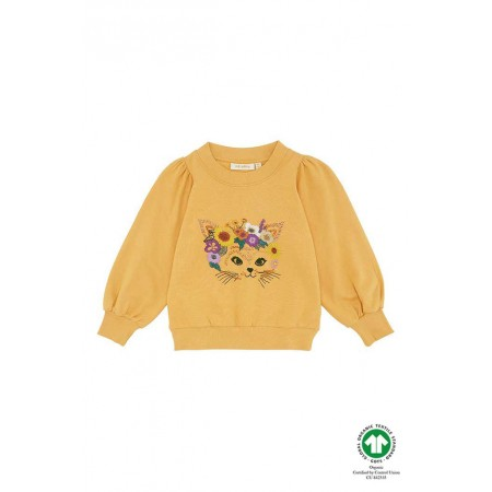 Soft Gallery Era Sweatshirt, Golden Apricot, Flowercat 2Y (Sweaters)