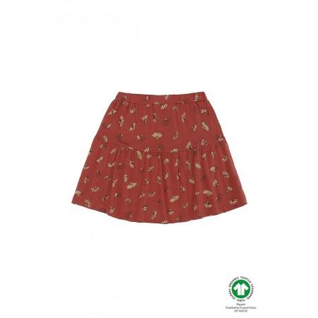 Soft Gallery Fennel Skirt, Burnt Brick, AOP Camomile 3Y (Girls)