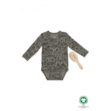 Soft Gallery New Born Pack, Vetiver, AOP Owl Vetiver 3m (Slippers)