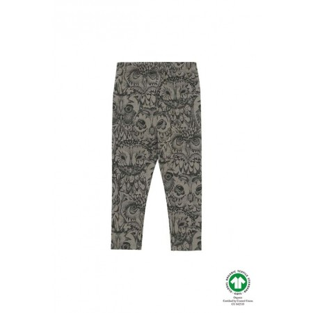 Soft Gallery Paula Baby Leggings, Vetiver, AOP Owl Vetiver 3m (Pants)