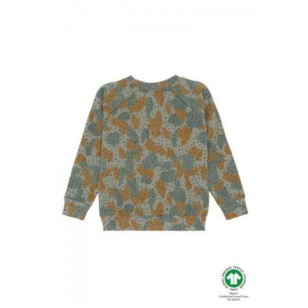 Soft Gallery Chaz Sweatshirt, Vetiver, AOP Cameodot