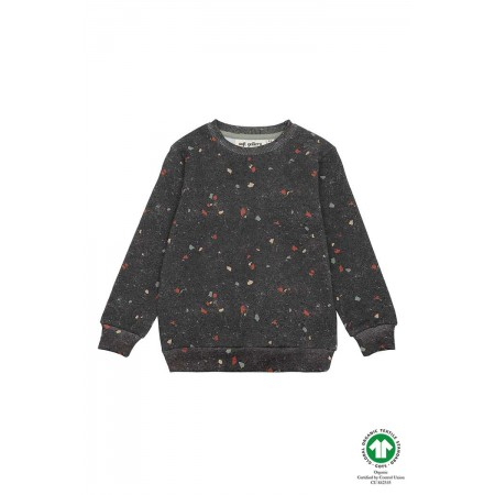 Soft Gallery Konrad Sweatshirt, AOP Terazzo Blk (Sweaters)