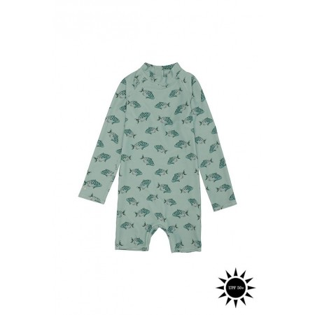 Soft Gallery Fitz Sunsuit 1y Jadeite, AOP Spotfish (Swimwear)