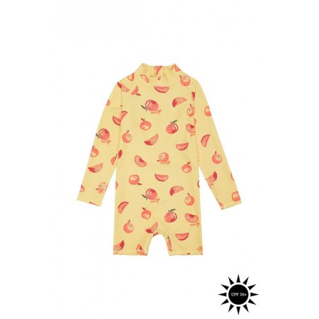 Soft Gallery Fitz Sunsuit Jojoba, AOP Oranges (Swimwear)