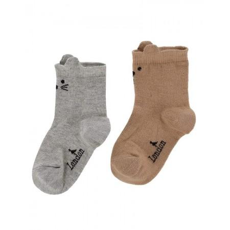 Turtledove London 2 Pack Character Sock 0-6 Months (Socks)