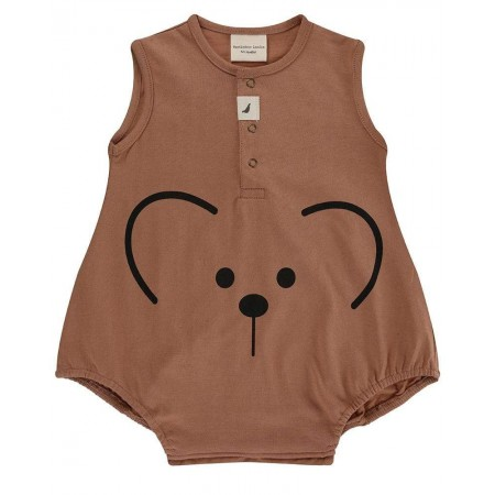 Turtledove London Bear Face Bubble Romper 0-3 Months (Slippers)