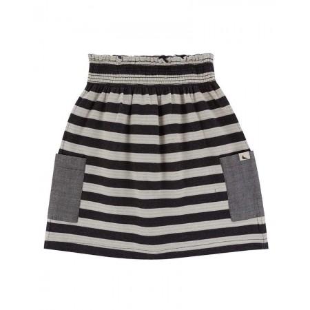 Turtledove London Reversible Stripe Midi Skirt (Skirts)