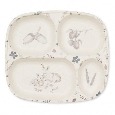 CamCam Bamboo Divided Plate Forest Theme (Plates)