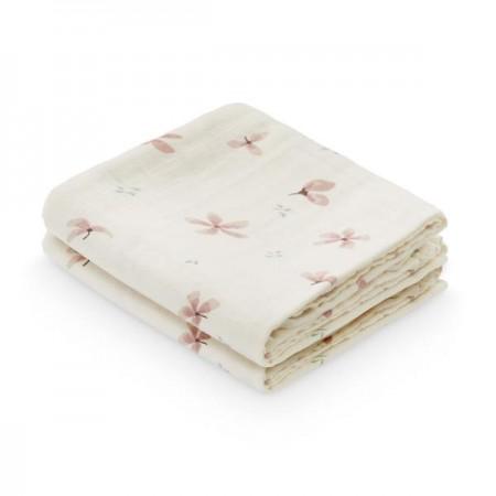 Camcam Muslin Cloth, Printed - - 2 Pack Windflower Cream (Novelties)