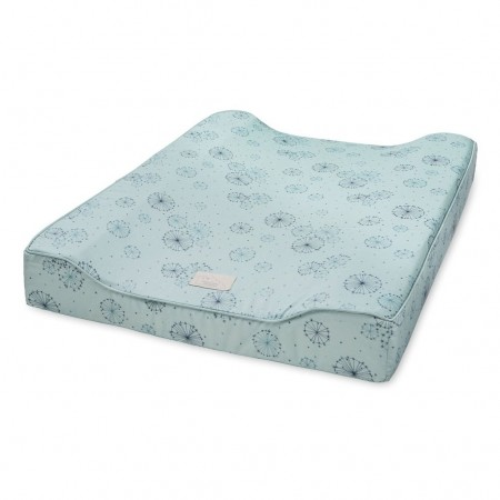 CamCam Changing Cushion W/ Lining Dandelion Petrol (Chanching mat)