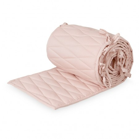 CamCam Cot Bumper W/ Harlequin Embroidery Blossom Pink (Bed Bumper)