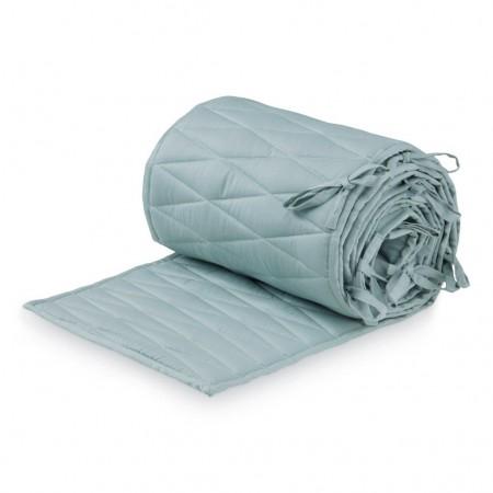 CamCam Cot Bumper W/Harlequin Embroidery Petroleum (Bed Bumper)