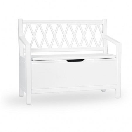 CamCam Harlequin Kids Storage Bench White (Chairs and benches)